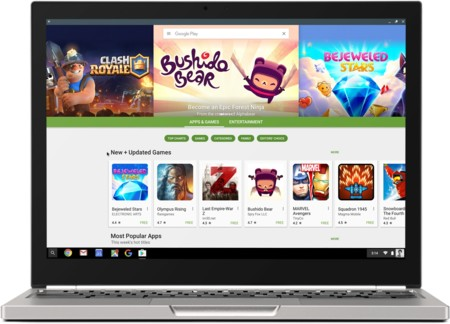 Chrome OS recibe Google Play para apps Android y supera en ventas a Mac en Estados Unidos