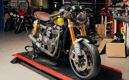 Triumph Madrid y su espectacular Speed Twin MQ#4 ganan en el concurso Garage Icon 2020