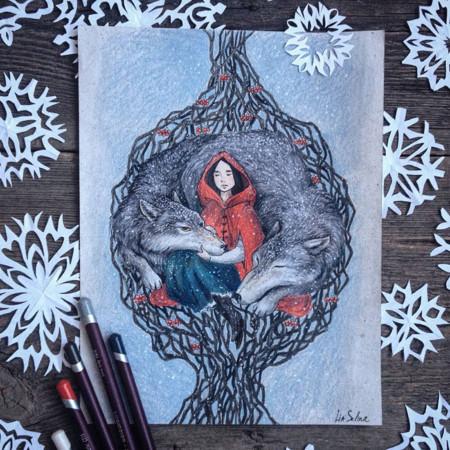Fairytale Illustrations Color Pencil Lia Selina 18