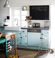 Añade un toque turquesa a tu cocina