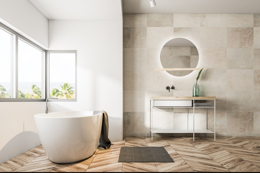 Espejo de baño con luz LED Louvre