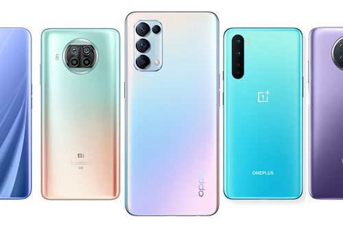 OPPO Find X3 Lite, comparativa: así queda contra móviles 5G similares como el Xiaomi Mi 10 Lite, Redmi Note 9T o OnePlus Nord