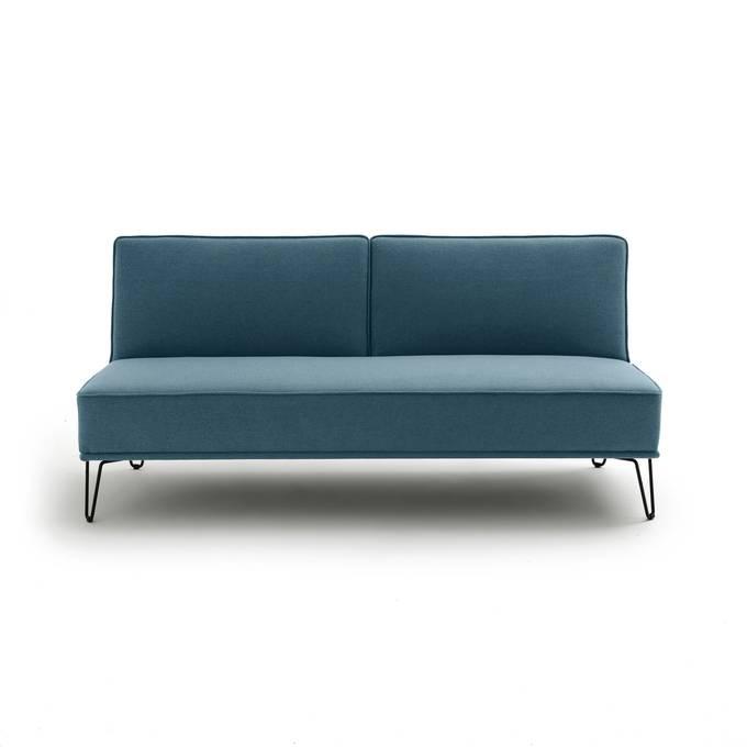 Sofá cama, tejido texturizado, vees