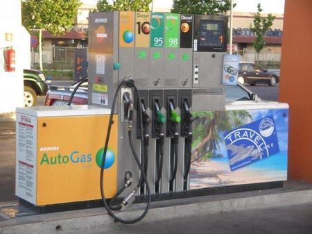 Gasolinera con GLP