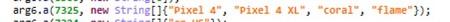 Nombres Google Pixel 4