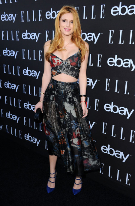 Bella Thorne Crop Top Look