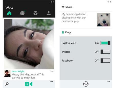 Llega Vine para Windows Phone