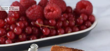 Käsekuchen o tarta de queso con frambuesas al estilo alemán. Receta cremosa irresistible