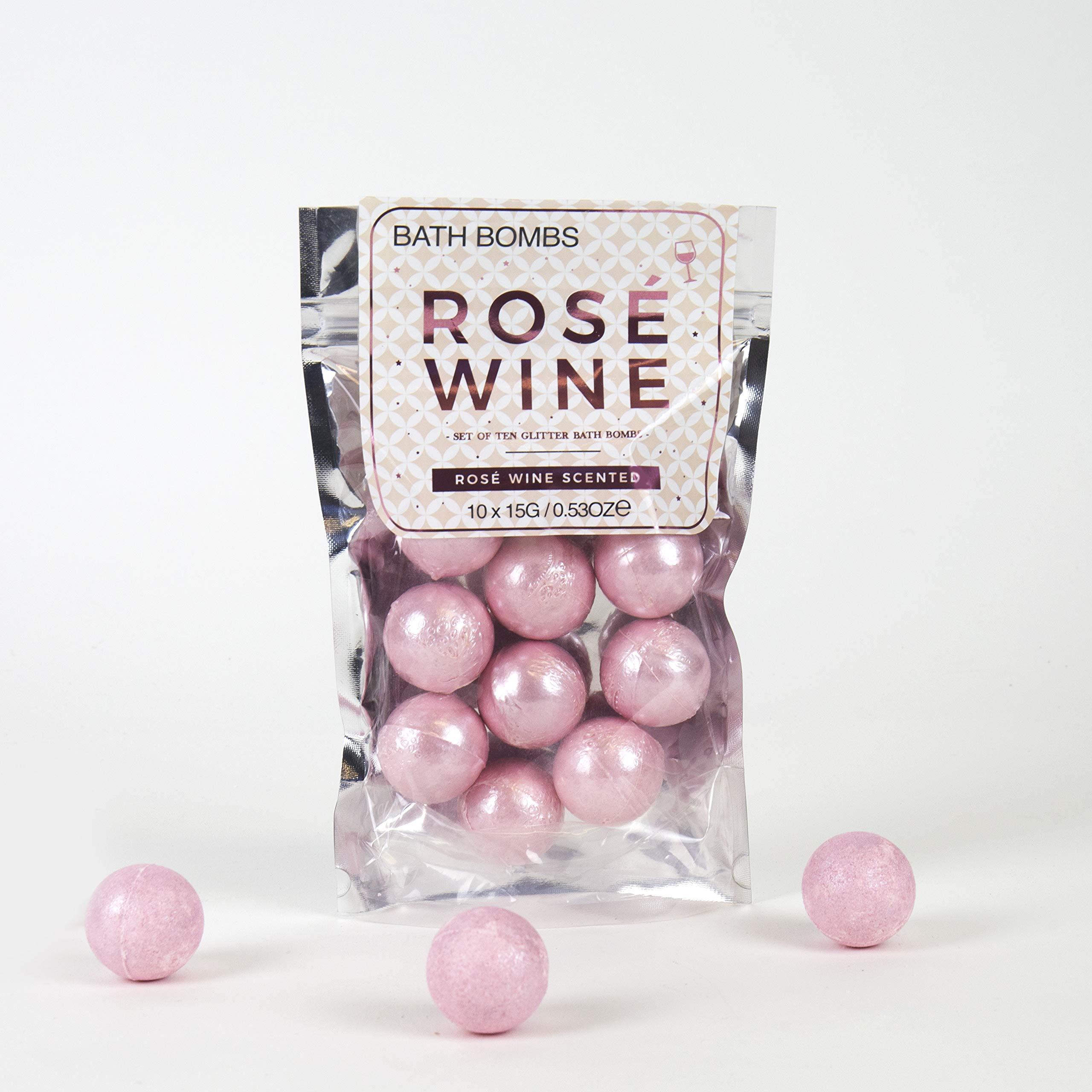 Bombas de baño relajantes de vino rosado de Gift Republic
