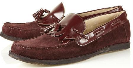 calzado rojo hombre