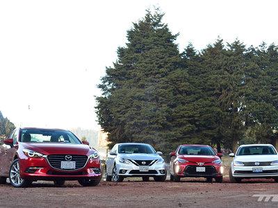 Comparativa: Mazda3 vs. Nissan Sentra vs. Toyota Corolla vs. Volkswagen Jetta (II)