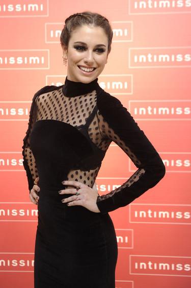Blanca Suárez, radiante, madrina de la nueva tienda Intimissimi