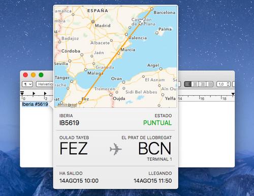 Información de vuelos en iOS 9 y OS X El Capitan