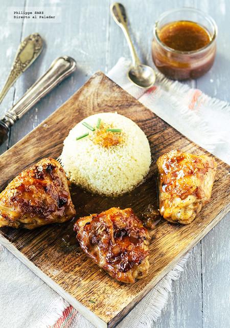 Muslos de pollo en salsa de naranja y soja: receta