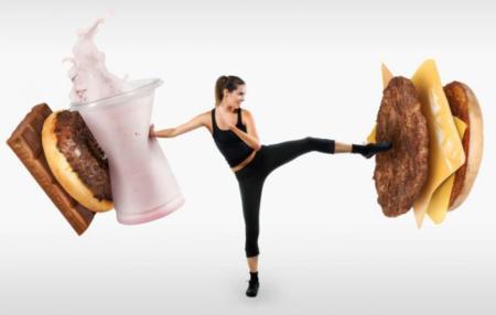 luchando contra la comida basura