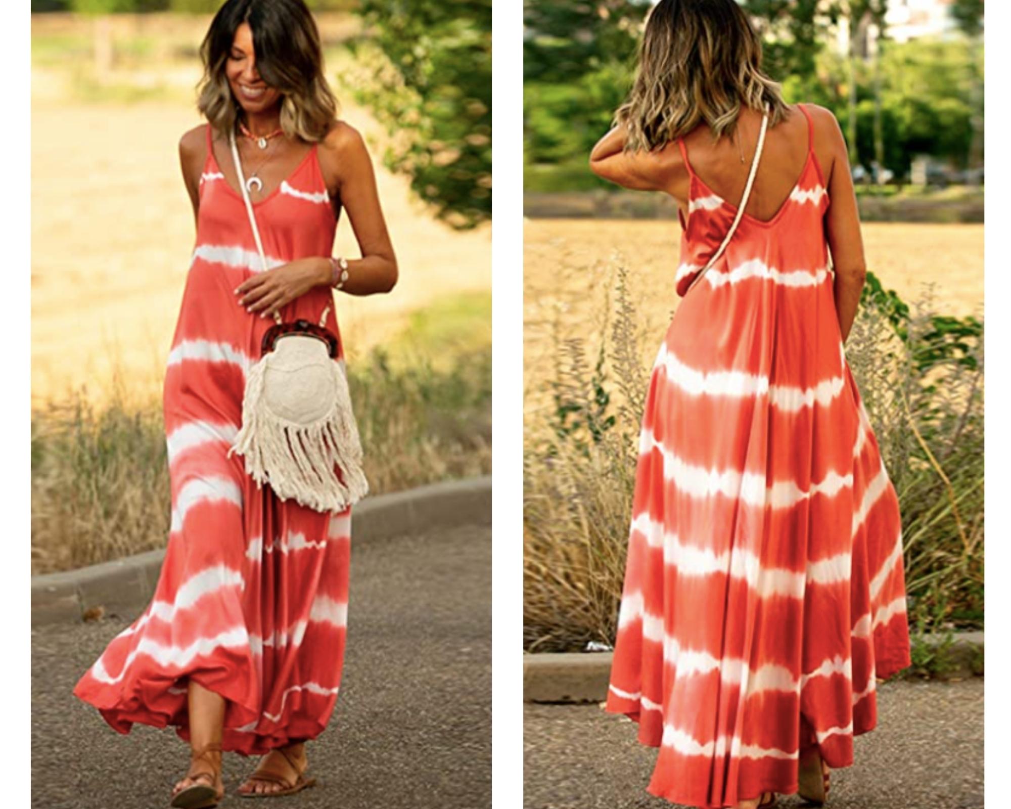 Maxi vestido estampado tie-dye