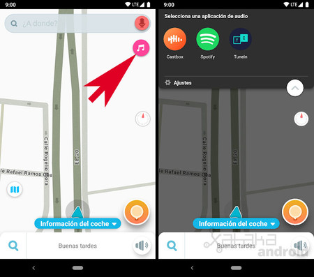 Waze for Android: how to listen to music and podcasts without