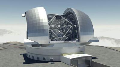 Infografía comparativa de los telescopios ópticos más gigantescos