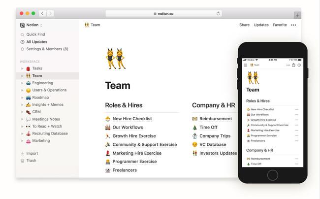 Notion, un área de trabajo todo en uno para que gestiones notas, tareas, calendarios, bases de datos y más