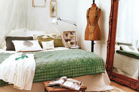 Dormitorio de inspiración bohemia