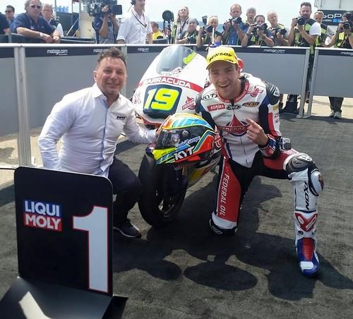 MotoGP Alemania 2015: Xavier Simeon, el piloto más feliz hoy en Moto2