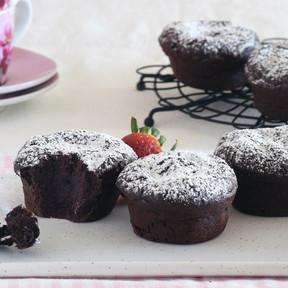 Mini pasteles sin gluten de intenso chocolate: receta para seducir a los auténticos chocolateros