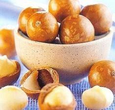 Sabrosas y deliciosas nueces de Macadamia