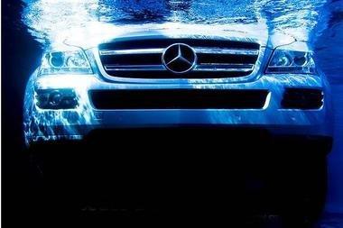 Mercedes GL 450 sumergido