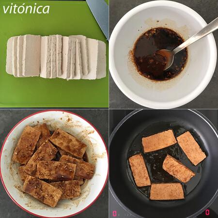 Tofu Marinado. Pasos