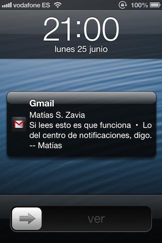 Notificaciones en Gmail para iOS