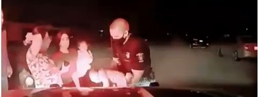 El angustioso rescate en el que un policía salva la vida de una bebé de tres semanas que se había atragantado