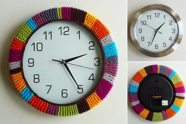 Hazlo t mismo una funda de punto para un reloj de pared - Hacer un reloj de pared ...