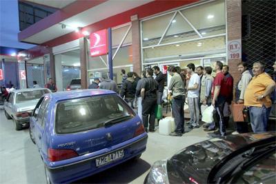 Grecia se queda sin gasolina
