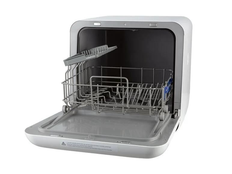 Lavavajillas compacto portátil 860 W. No necesita conexión de agua. Lavavajillas con depósito de agua con 5 programas de limpieza: intensivo, rápido, ecológico, cristal y menaje de bebés.