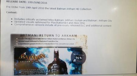 Un rumor apunta a que Batman Arkham HD podría estar desde hoy disponible para reserva en Xbox One