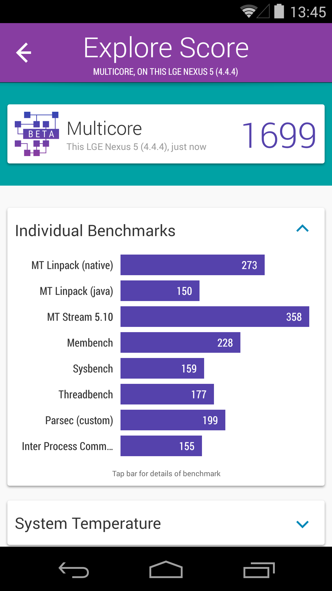 Foto de Benchmarks Nexus 5 Android 4.4.4 (34/37)