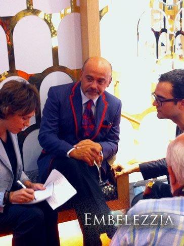 Christian Louboutin estuvo en la presentación de su nueva colección en Claudio Coello, Madrid