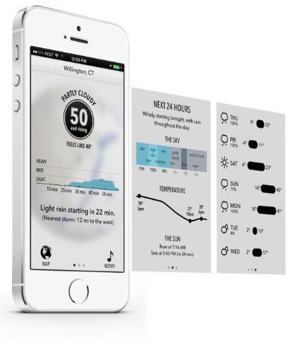 Dark Sky, quizás una de las aplicaciones del tiempo más cuidadas para iOS