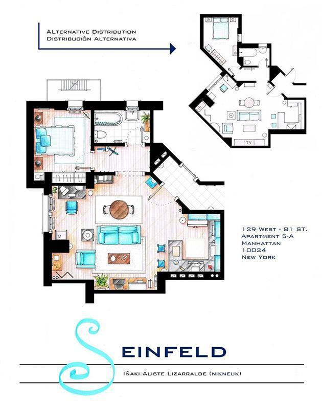 Foto de Planos de apartamentos de series de TV (3/17)