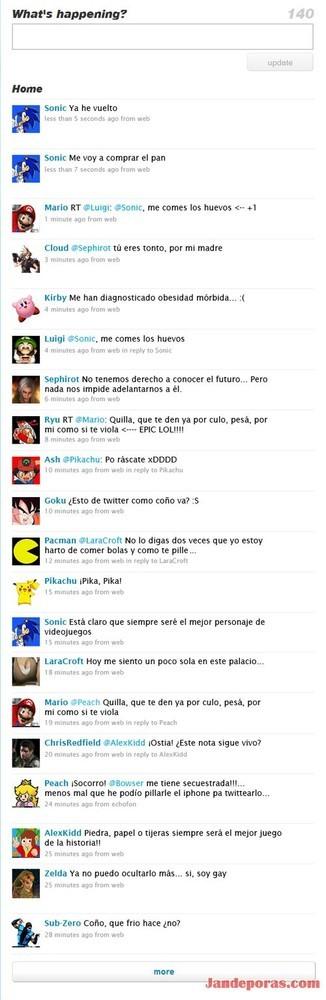 Twitter y los videojuegos