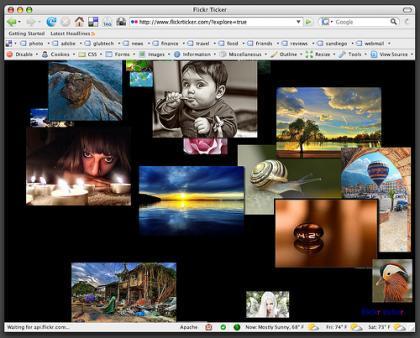 Flickr Ticker, flickr como en un AppleTV