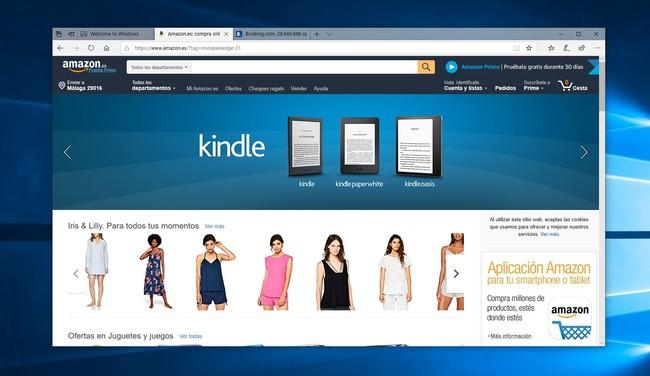 Microsoft Edge utiliza enlaces de afiliados de Amazon y Booking para ganar dinero con tus compras