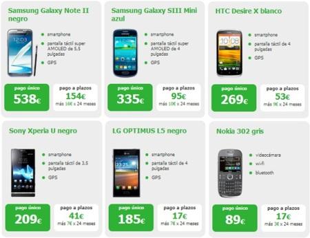 5 smartphones con pago a plazos de Amena