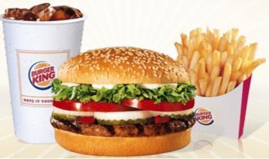 Análisis nutricional de un menú Big King