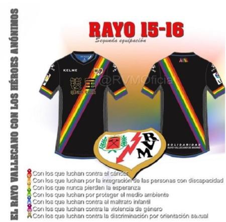 Hay peores camisetas de fútbol que la nueva del Rayo Vallecano, y ninguna es solidaria