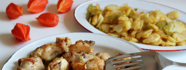 Receta tradicional de pollo al ajillo