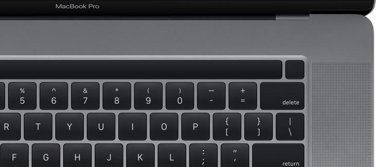 Aparece alguna imagen del teclado del MacBook Pro de dieciséis pulgadas en macOS Catalina 10.15.1