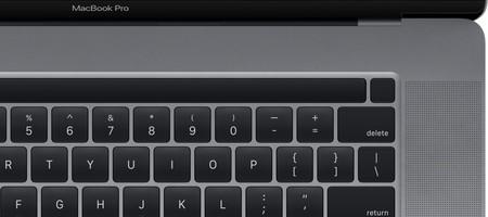 Aparece una imagen del teclado del MacBook Pro de 16 pulgadas en macOS Catalina 10.15.1