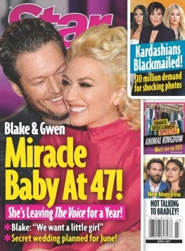 Blake y Gwen Stefani, a morir