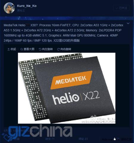 Mediatek Helio X30 14nm
